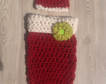 Christmas Holiday Cocoon for newborns and infants,Photo  prop for holiday cards or photo shoots Ready To Ship
