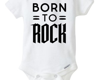 Rock And Roll Baby Onesie, Born To Rock Onesie, Rock and Roll Onesie, Rock Star Onesie, Rocker Onesie, Born To Rock