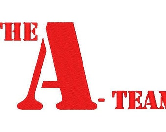 The A-Team Embroidery Design 4x4 and 5x7 Inches-Instant Download