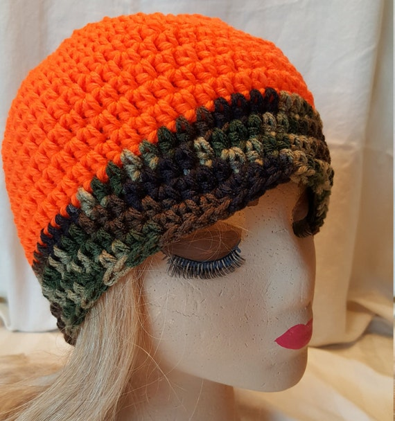Free Crochet Pattern Hunting Hat : Camo Hat Crochet Beanie Hunting Hat Winter Hat