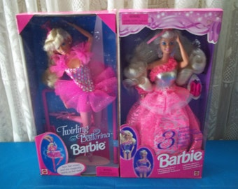 Vintage Twirling Ballerina Barbie & Barbie 3 Looks Dolls FREE SHIPPING