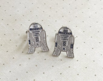 R2D2 Cufflinks R2 D2 Cuff Links in Silver