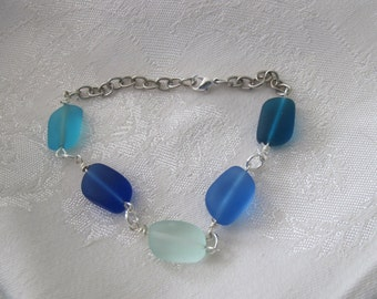 Sea glass bracelet/anklet