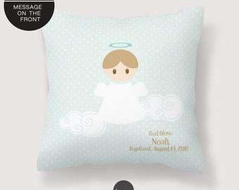 Baptism Pillow, Baptism Gift Boy, Baptism Gift For Boy, Baptism Gift For Godson // with personalization