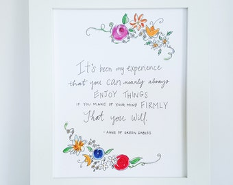Anne of Green Gables quote, Anne of Green Gables print, nursery quote, Anne Shirley quote, nursery wall art, kindred spirits, AQ2