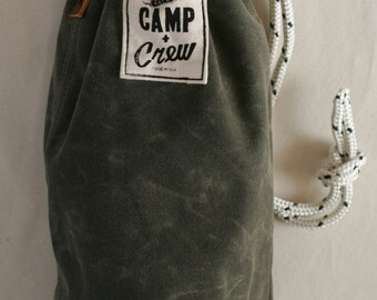 Ditty Bag, Rustic Bag, Waxed Canvas Bag, Duffle Bag, Handmade Purse, Handmade Bag, Canvas Handbag, Canvas Duffle Bag, Canvas Ditty Bag