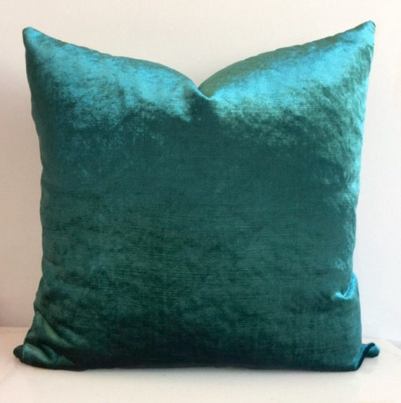 Teal Green Decorative Pillows : Teal Green Velvet Pillow Cover Velvet Cushion by artdecopillow