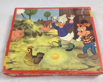 1970s Mickey Mouse Wooden Puzzle , Wooden Disney Puzzle , Vintage Disney , Vintage Mickey Mouse , Walt Disney Puzzle