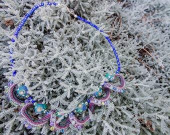 Hand Stitched Herringbone Necklace