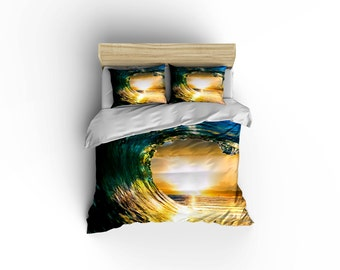 Surfing Wave Duvet, Ocean Wave Duvet,RIp Curl, Wave RIders,Surfing comforters, Aloha bedding, island living, bed and bath,Wave Riders.