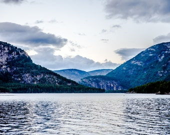 Lake with mountains in Norway