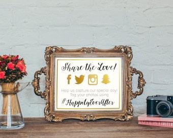 Share the Love! Printable Custom Hashtag Sign