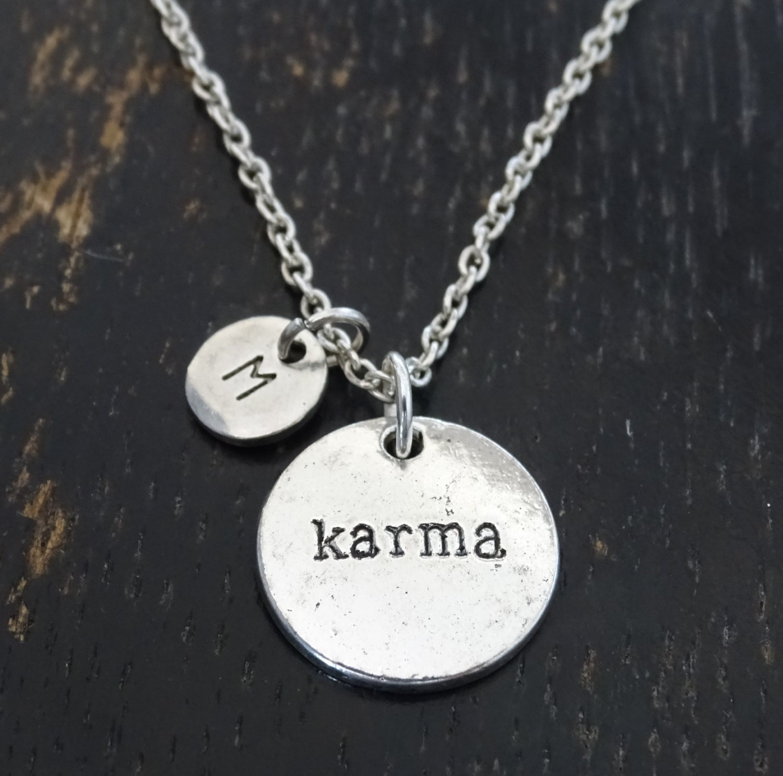karma necklace karma jewelry karma charm karma pendant
