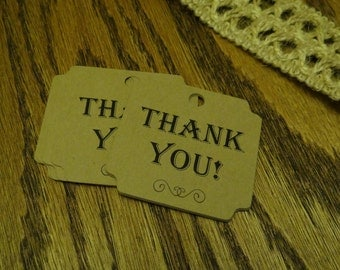 30 Thank You Tags - 2 Inch