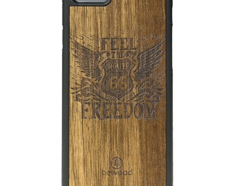 Apple iPhone 6 / 6s - Real Wood Case - Route 66 - Frake