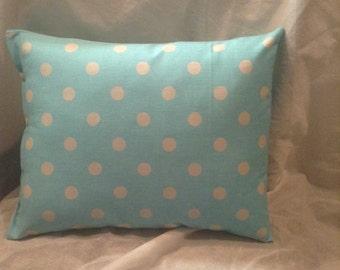 Baby blue Light Grey Polka-Dots Nursery Pillow Decorative Pillow Home Decor