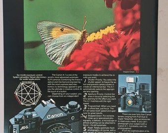 1980, 1981 Lot of 3 Canon A-1 Camera Print Ads - Glider - Vintage Photography Ad