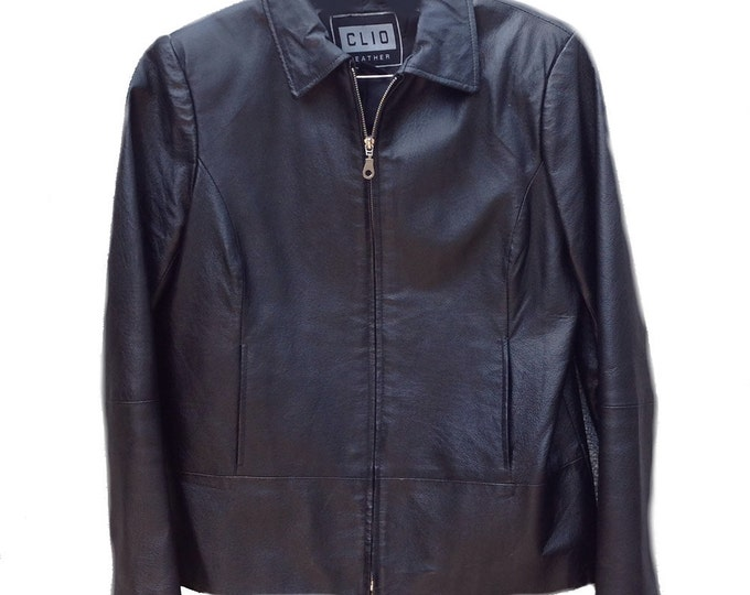 Small Clio Black Leather Jacket