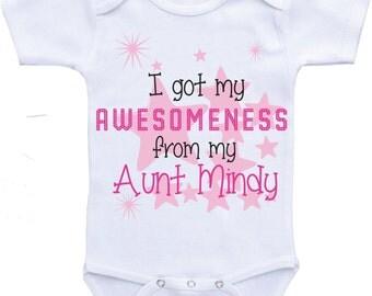 Auntie Onesies Aunt baby clothes aunt onesie auntie shirt baby girl clothes aunt shirt i love my aunt onesie auntie onsie niece gift niece