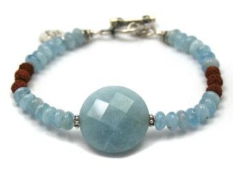 bracelet aquamarine, Rudraksha in Blue Moon (19)