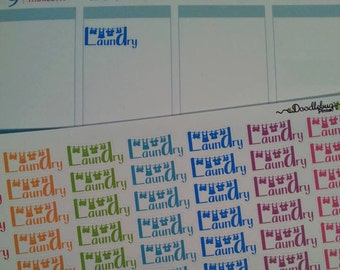 NEW!!! Colorful Clothesline Laundry Stickers, Set of 63!