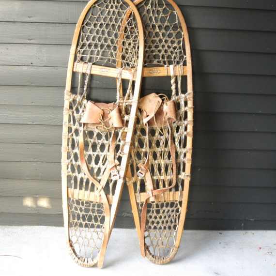 Items Similar To Vintage Canadian Snowshoes Faber