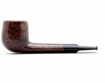 "Tobacco Smoking Pipe Briar Metal filter 4,92"" NEW Unsmoked Smooth Aviator Brown pipe extra extra Briar ebonite stem excellent quality + GIFT"
