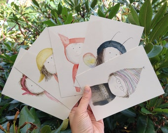 Cute Postcard Set of five