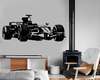 Wall Vinyl Decal Karting Super Kart Race Formula 1 Speed Amazing Decor 1323dz