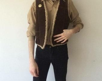 Original vintage 1970s french army khaki shirt