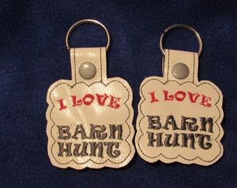 BARN HUNT, key chain, key holder, key fob, K-9