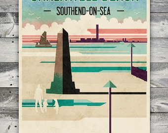 Chalkwell Beach - Poster (A4 & A2 sizes)