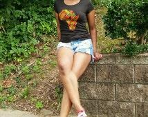 "Handmade ""Africa in Kente"" Women's CREW-Fit T-shirt"