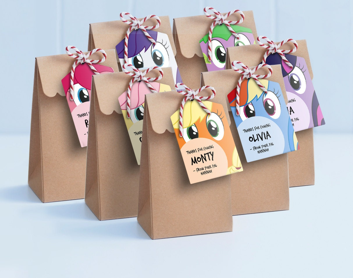 My little pony colouring table - My Little Pony Lollie Bag Tags Printable Loot Bag Tags My Little Pony Labels