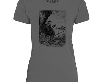 Mintage Reading and Fishing  Womens Fine Jersey T-Shirt