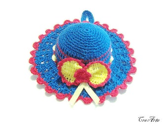 Crochet Pincushion, Deep Blue Pincushion, Handmade Pincushion, Sewing Accessories, Puntaspilli (Cod. 61)