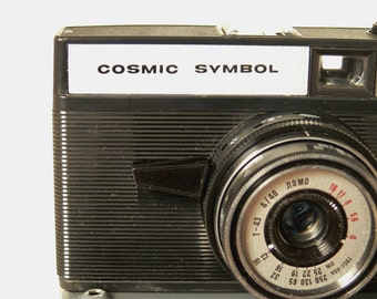 Lomo Cosmic Symbol 35mm Camera - With Wraparound Case - Lomography - Russian Made - USSR