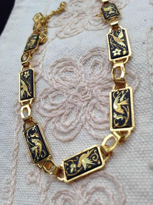 Vintage damascene bracelet toledo jewelry spanish jewelry | 1125 x 1500 jpeg 298kB
