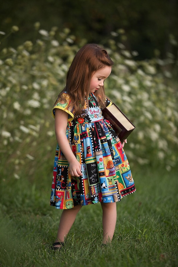 Back To School Dress First Day Of School Dress Peasant