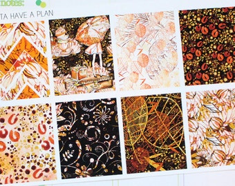 Planner Stickers Autumn Gold Full Box for Erin Condren, Happy Planner, Filofax, Scrapbooking