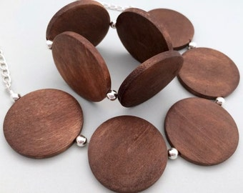 Dark wooden bead stretch bracelet / wood bead bracelet / timber bead elastic bracelet / natural wood bracelet matching set