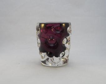 "Liskeard Glass ""Knobbly"" Vase"