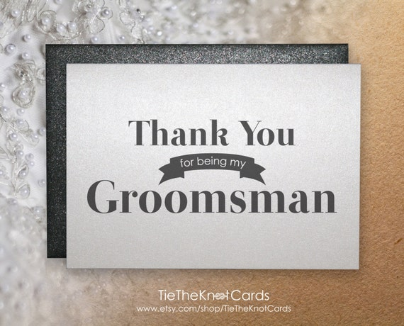 thank you for being my groomsman thank you card