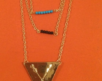 Tribal  Multi-Layer Gold Necklace