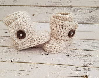 Baby Boots, Crochet Baby Boots, Baby Booties, Baby Boy Boots, Baby Girl Boots, Baby Shoes, Crocheted Baby Boots, Baby Uggs, MADE 2 ORDER!