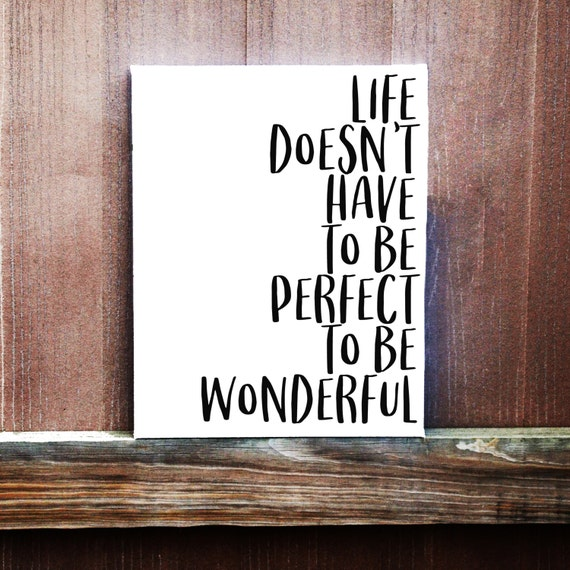 Wonderful Life Quotes: Canvas Quote Motivational Quote Life Quotes Life