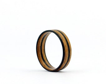 Handmade Bentwood Ring - OLIVE WOOD natural rustic durable wood process Wooden Jewelry Wedding Promise Engagement Band