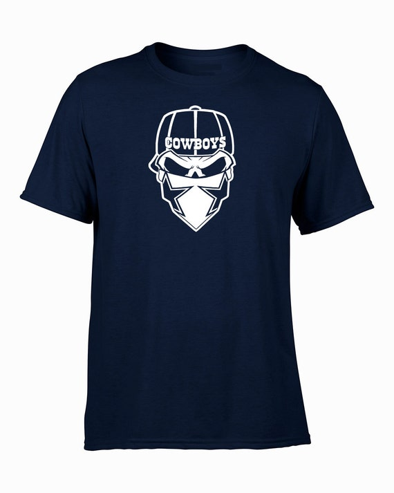 dallas cowboys skull custom shirt or hoodie by nflcustoms