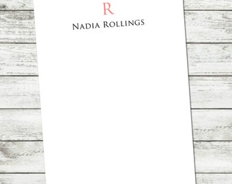 Notepad, Personalized Initial Notepad, Custom Name Note Pad, Custom Personalized Notepad