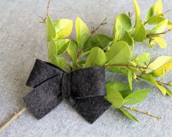 Black Felt Hair Bow